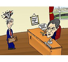Crisis in Cyprus Banks Cartoon Photographic Print
