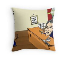 Crisis in Cyprus Banks Cartoon Throw Pillow