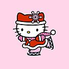 Hello Kitty Ice Skating by gleviosa