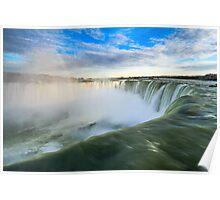 Rainbow Rises from Niagara Falls Waterfall Poster