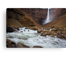 Hanging Falls of Iceland Canvas Print