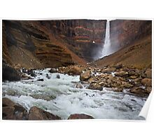 Hanging Falls of Iceland Poster