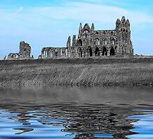 Whitby Abbey Isolation by Ian Jeffrey