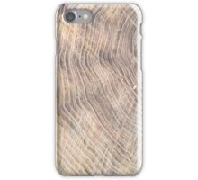 Top view of the surface of the fresh stump with annual rings iPhone Case/Skin