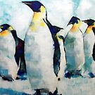 Emperor Penguins Artwork Painting by Samuel Durkin