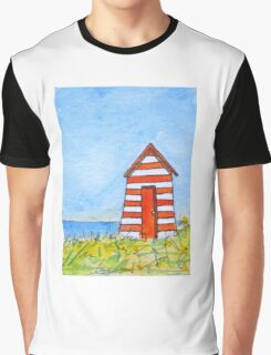 Beach Hut Graphic T-Shirt