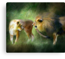 Lions - Wild Attraction Canvas Print
