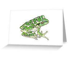 Juvenile Motorbike Frog Greeting Card