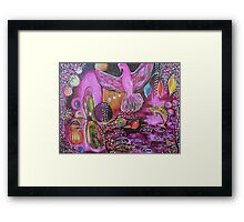 Night Canopy Courting Reproduction of Original Artwork Framed Print