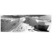Striding Edge in winter. Poster