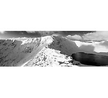 Striding Edge in winter. Photographic Print