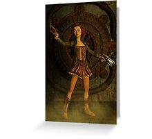Anime Meets Steampunk Greeting Card
