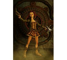 Anime Meets Steampunk Photographic Print