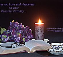 Wishing A Happy Birthday Through Scripture by Sherry Hallemeier