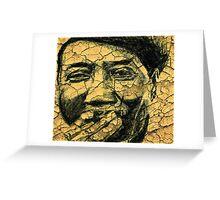 Mr. Muddy Waters Greeting Card