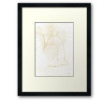 One Line Totoro Framed Print