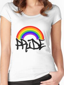 Gay Pride Rainbow Women's Fitted Scoop T-Shirt