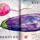 beet and aubergine boldly go by Evelyn Bach
