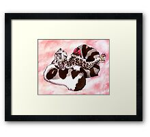 Snow Leopard Girl Framed Print