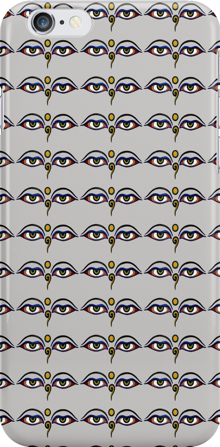 Buddha Eyes Pattern Case by simpsonvisuals