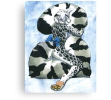 Snow Leopard Boy Canvas Print