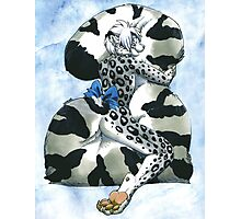Snow Leopard Boy Photographic Print