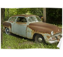 Rusty Old Dodge Car Poster