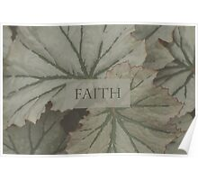 Faith Over Leaves Poster