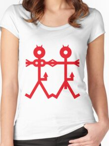 2 Little Devils Icon Women's Fitted Scoop T-Shirt