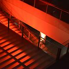 Red Stairs by K. Abraham