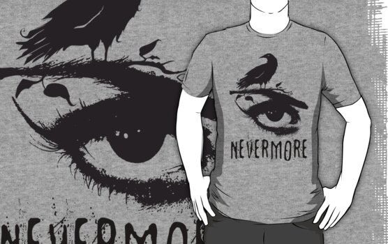 Nevermore - Edgar Allan Poe Inspired Design - The Raven Nevermore by traciv