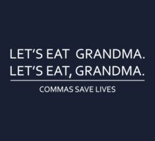 Commas save lives Kids Tee