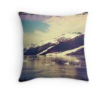 Analog Alaskan Adventure Throw Pillow