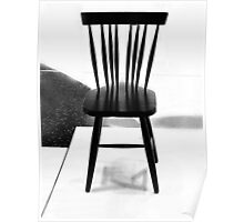 Black chair Poster