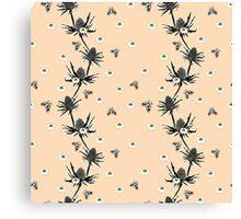 Sea Holly - Blush Canvas Print