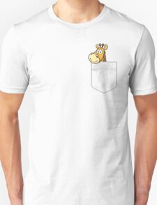 Pocket Giraffe Unisex T-Shirt