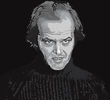 Jack Nicholson (Jack Torrance) The Shining poster by Creative Spectator