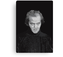 Jack Nicholson (Jack Torrance) The Shining poster Canvas Print