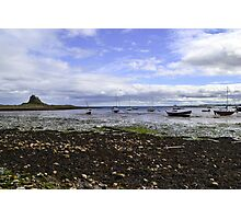 Lindisfarne Looking Across To The Castle Photographic Print