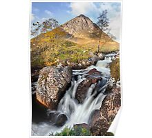 Etive Falls and the Buchaille Etive Mor Poster