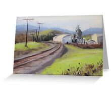 Original Plein Air Landscap Painting - Along the Tracks Greeting Card