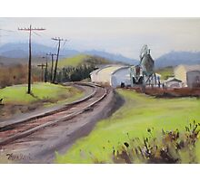 Original Plein Air Landscap Painting - Along the Tracks Photographic Print