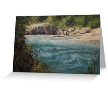 Original acrylic landscape painting - Shady River Greeting Card