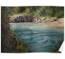 Original acrylic landscape painting - Shady River Poster