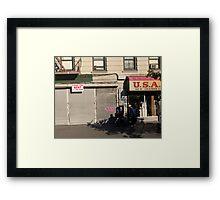 Streets of Harlem Framed Print