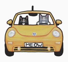 Cats in a Yellow Bug by Ryan Conners
