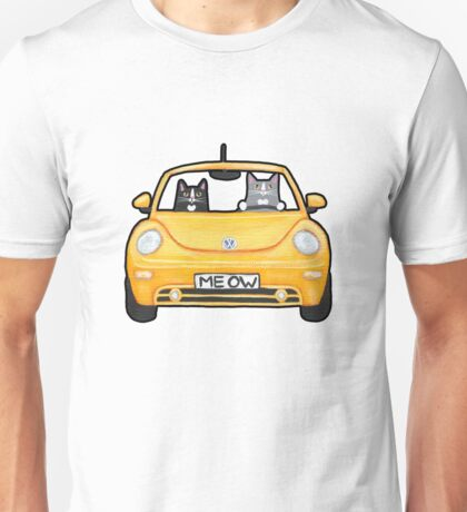Cats in a Yellow Bug T-Shirt