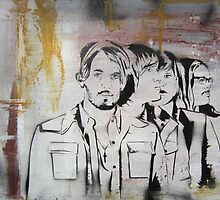 Kings of Leon Band Portrait by Katie Robinson