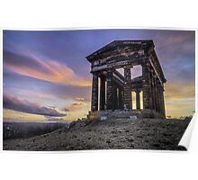 Penshaw Monument Sunset 2 Poster