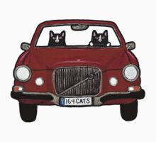 Cats in a Maroon Volvo Kids Clothes